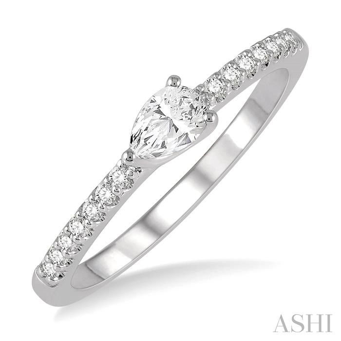 PEAR SHAPE DIAMOND EAST WEST STACK RING