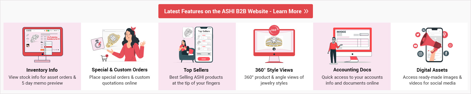 Latest Features on the ASHI B2B Website