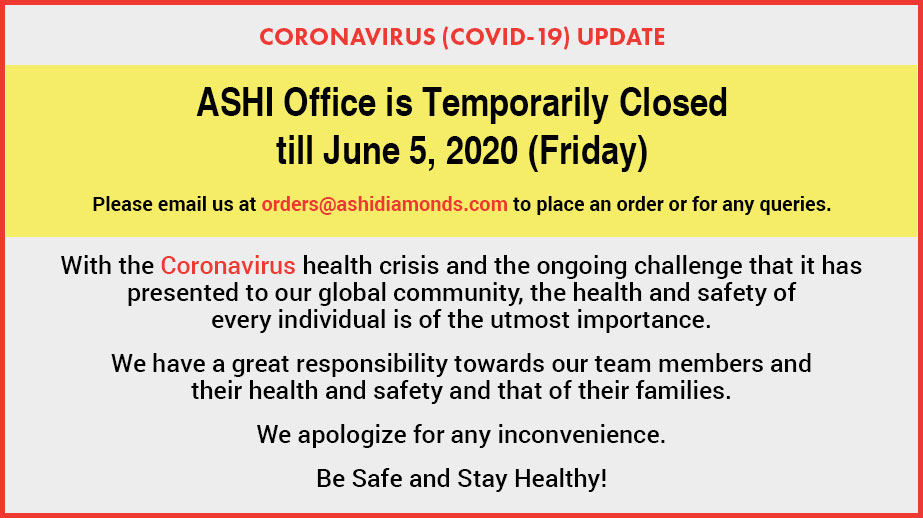 ASHI Office is Temporarily Closed till June 5, 2020 (Friday)