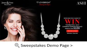 Lovebright Sweepstakes Demo Page
