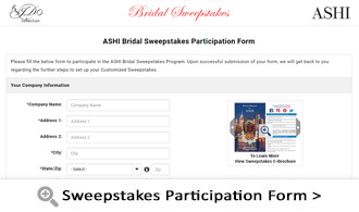 Sweepstakes Participation Form