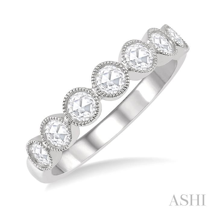 ROSE CUT DIAMOND STACK BAND