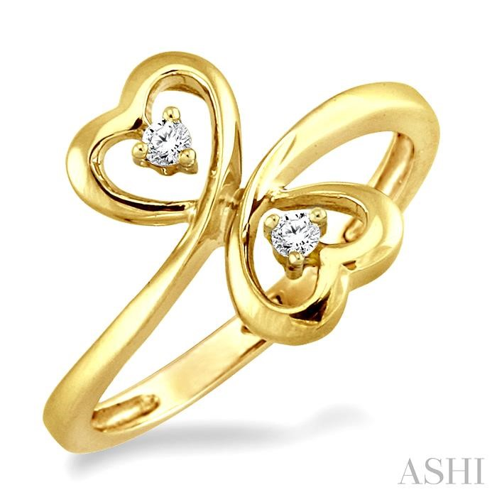 TWIN HEART 2STONE DIAMOND RING
