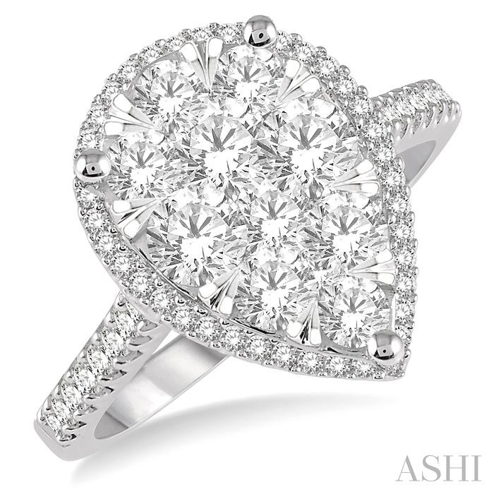 PEAR SHAPE LOVEBRIGHT ESSENTIAL DIAMOND RING