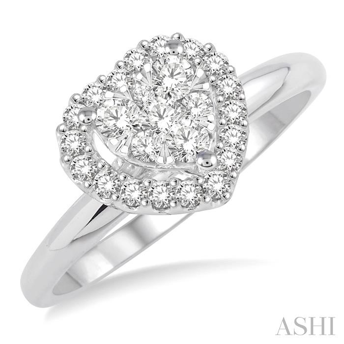 HEART LOVEBRIGHT DIAMOND RING