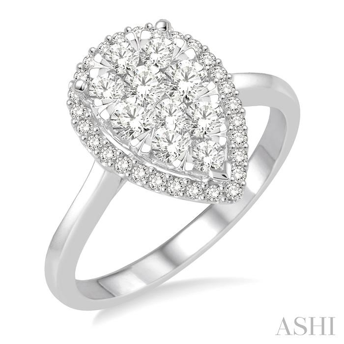 PEAR SHAPE LOVEBRIGHT DIAMOND RING