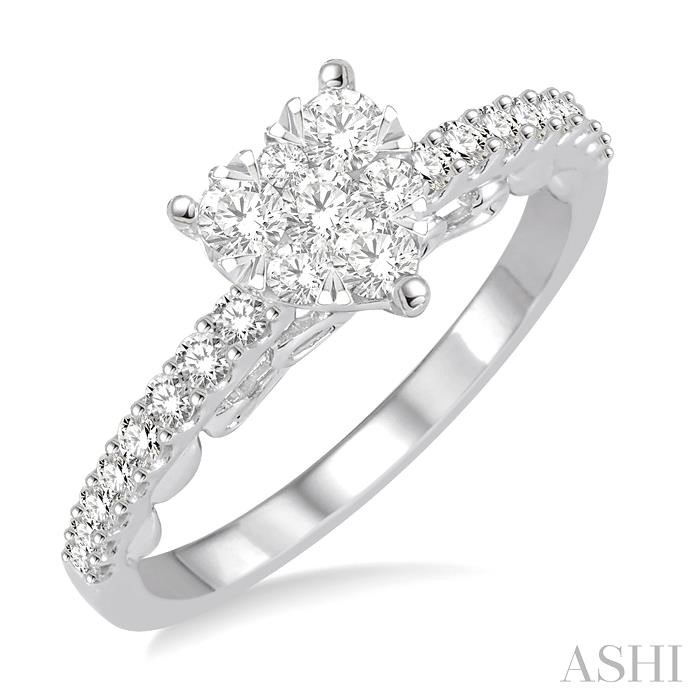 HEART LOVEBRIGHT DIAMOND ENGAGEMENT RING