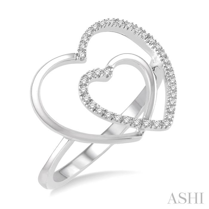 DOUBLE HEART SHAPE DIAMOND RING