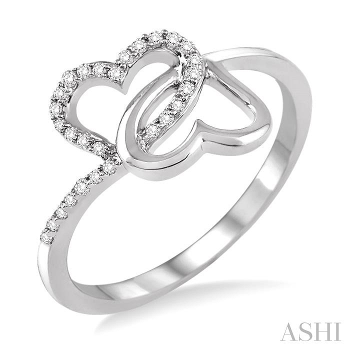 TWIN HEART DIAMOND RING