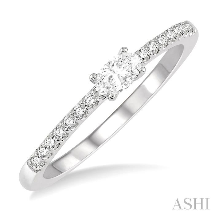 OVAL SHAPE DIAMOND EAST WEST STACK RING