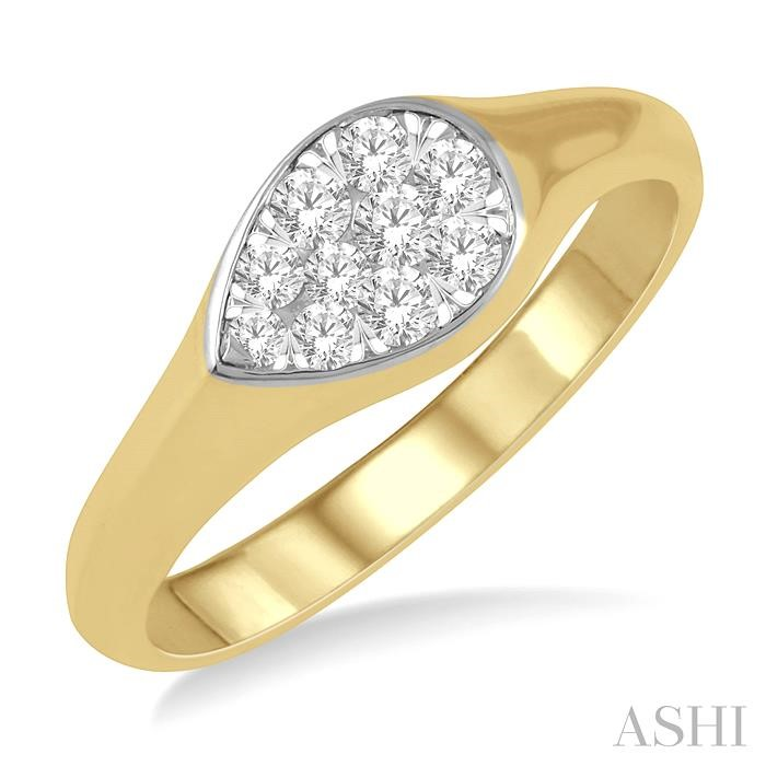 PEAR SHAPE LOVEBRIGHT DIAMOND PROMISE RING