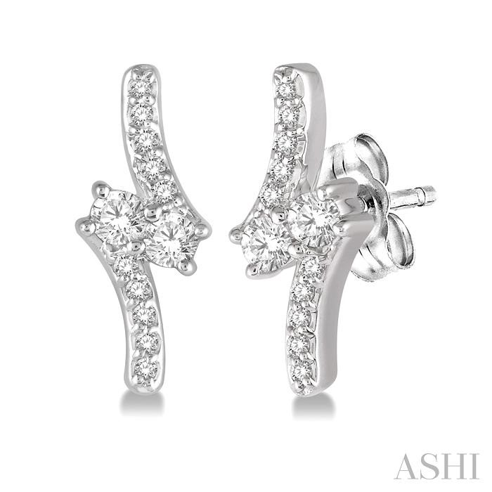 2STONE DIAMOND EARRINGS
