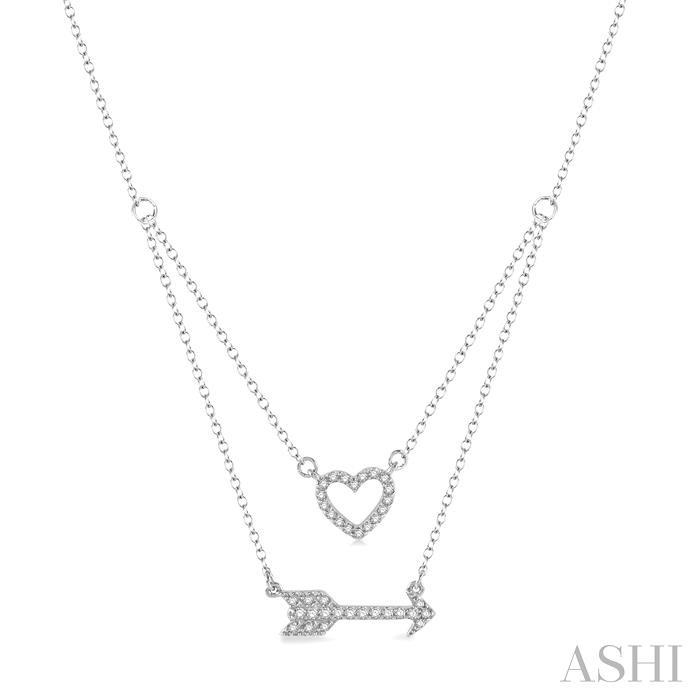 HEART & ARROW DIAMOND LAYERED PENDANT