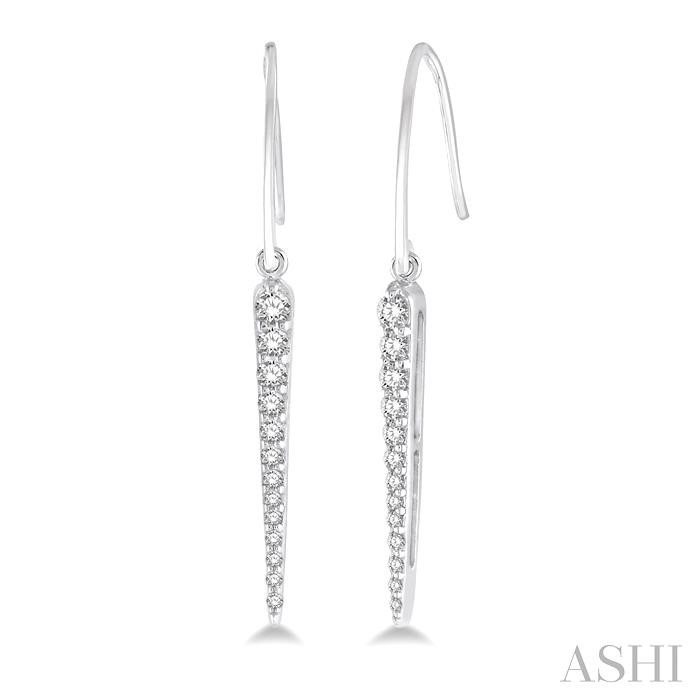 SPIKE DIAMOND LONG EARRINGS