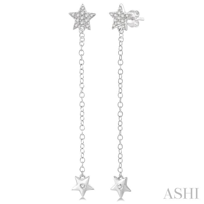DIAMOND LONG STAR FASHION EARRINGS