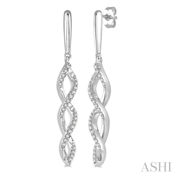 DIAMOND SWIRL FASHION EARRINGS