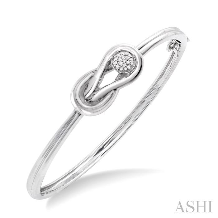 SILVER INFINITY DIAMOND BANGLE