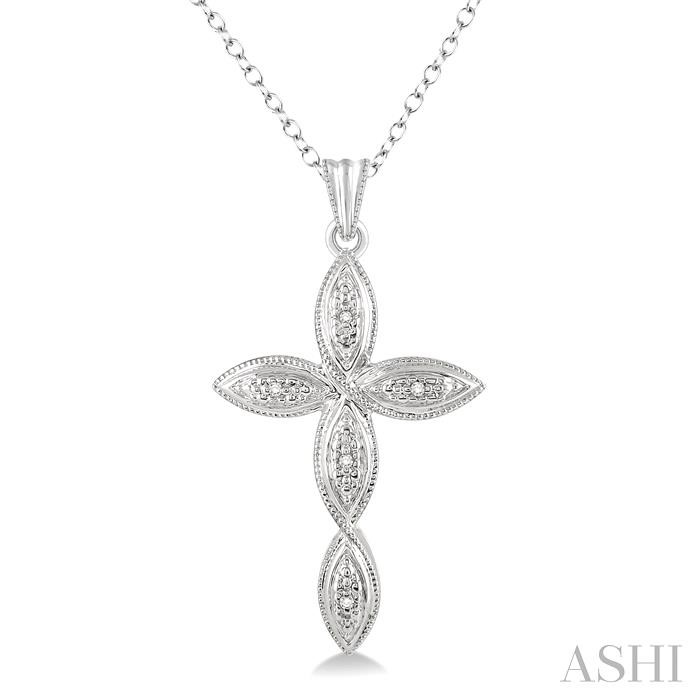 SILVER INFINITY CROSS DIAMOND PENDANT