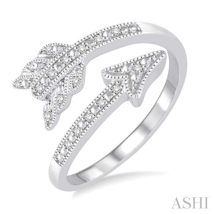 SILVER ARROW DIAMOND RING
