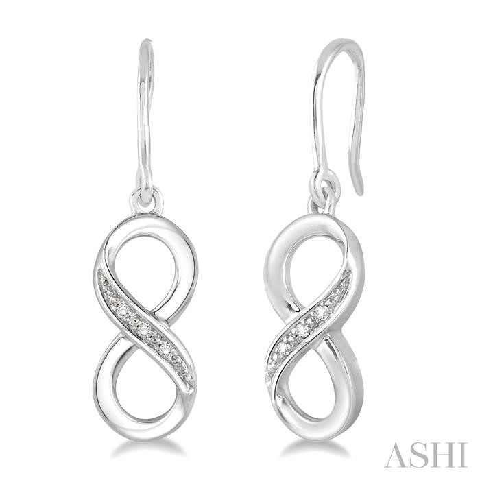 SILVER INFINITY DIAMOND EARRINGS