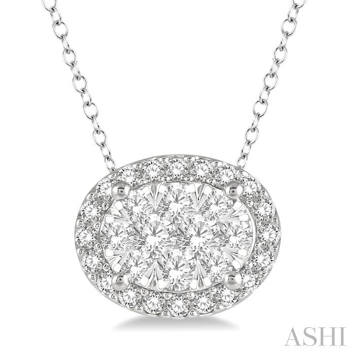 OVAL SHAPE LOVEBRIGHT ESSENTIAL DIAMOND PENDANT