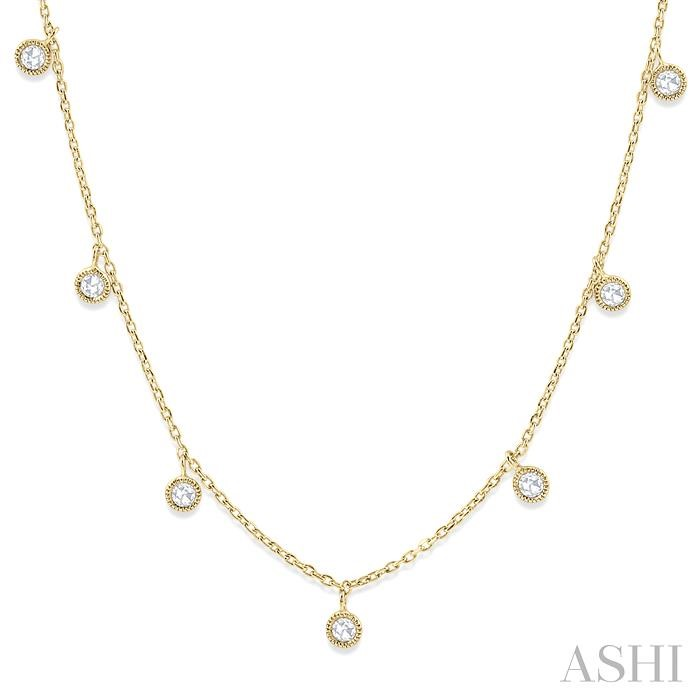 ROSE CUT DIAMOND STATION NECKLACE