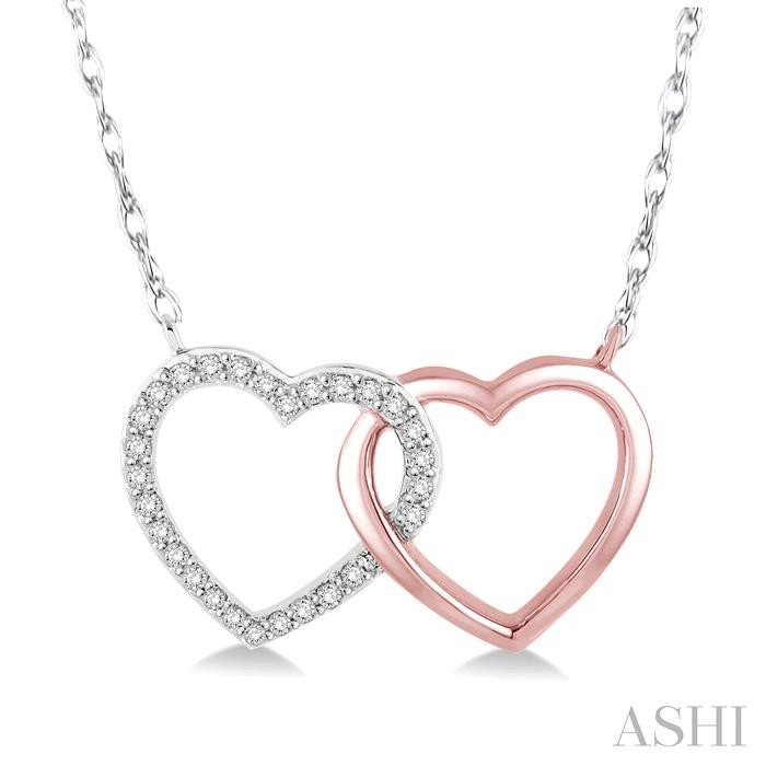 TWIN HEART SHAPE DIAMOND PENDANT