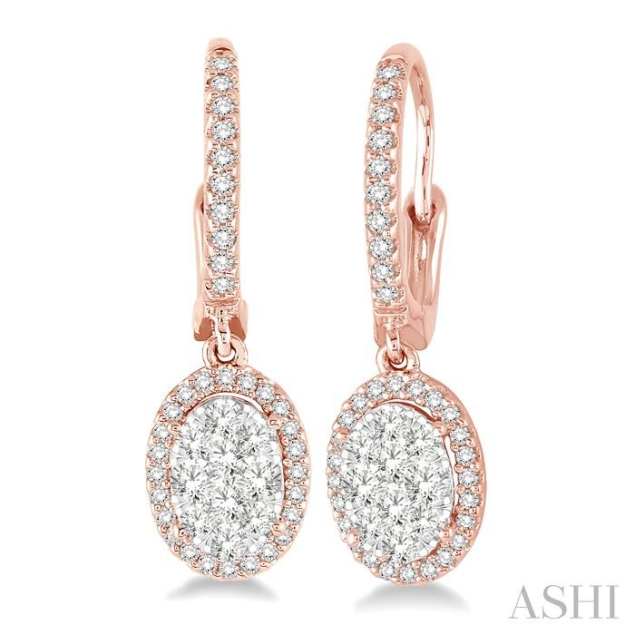 OVAL SHAPE LOVEBRIGHT DIAMOND EARRINGS