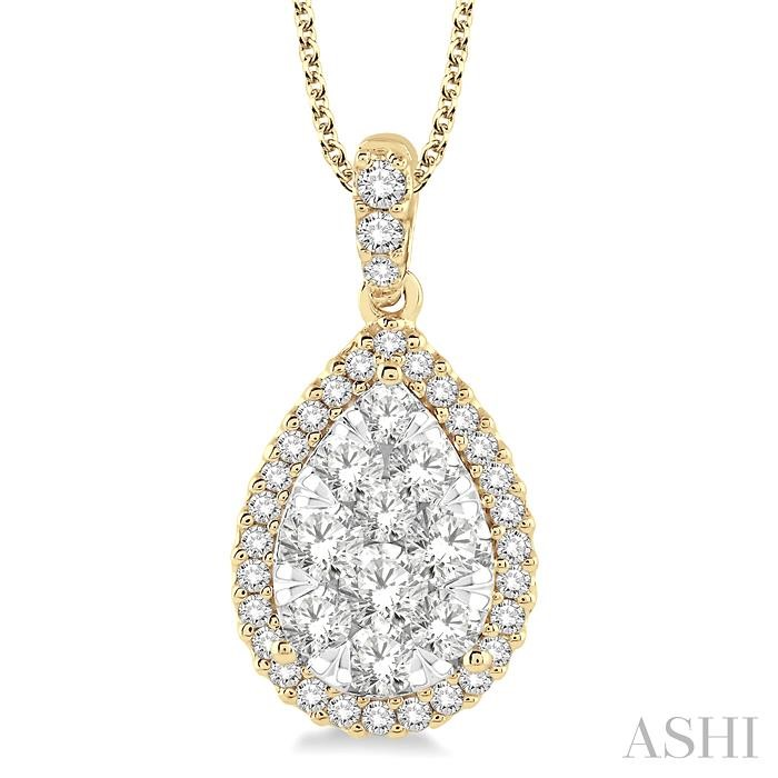 PEAR SHAPE LOVEBRIGHT DIAMOND PENDANT