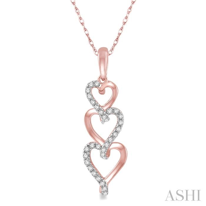 TRI HEART DIAMOND PENDANT