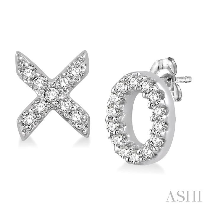 X & O SHAPE DIAMOND EARRINGS