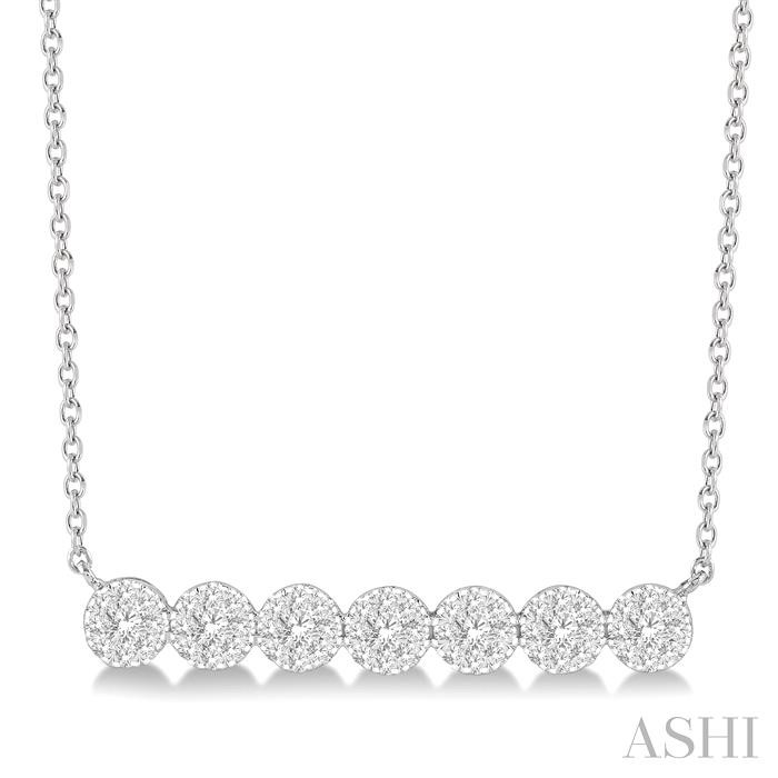 LOVEBRIGHT ESSENTIAL DIAMOND BAR NECKLACE