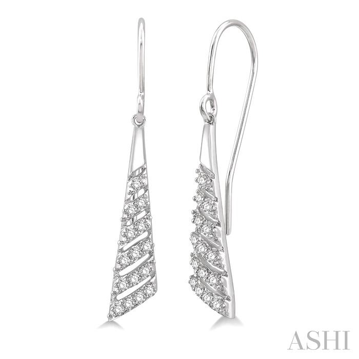 DIAMOND CHEVRON EARRINGS