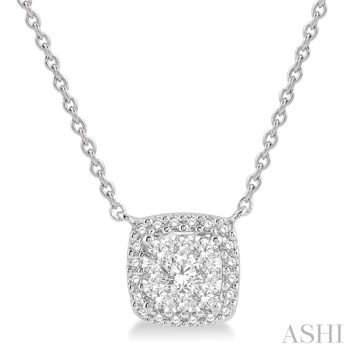 CUSHION SHAPE LOVEBRIGHT DIAMOND NECKLACE