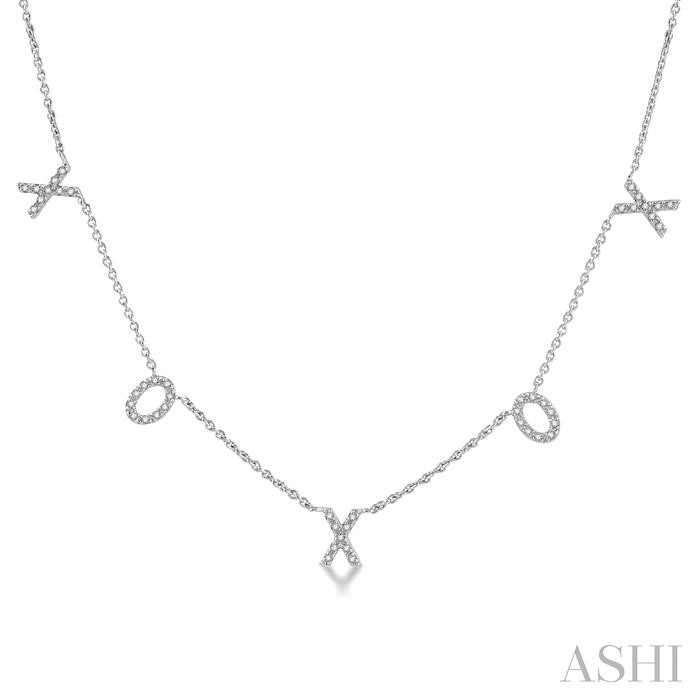 X & O DIAMOND STATION NECKLACE
